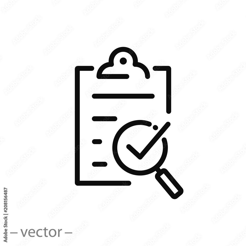 Fototapeta compliance icon, quality check line sign - vector illustration eps10