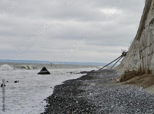 Fotobehang Kust Küste von Rügen am Kreidefelsen