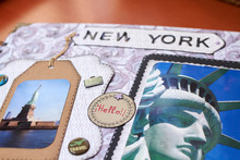 Scapbook New York Album With Textured Paper