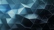 Triangulated polygonal surface. Abstract 3D render of futuristic low poly shape. Seamless loop animation 4k UHD (3840x2160)