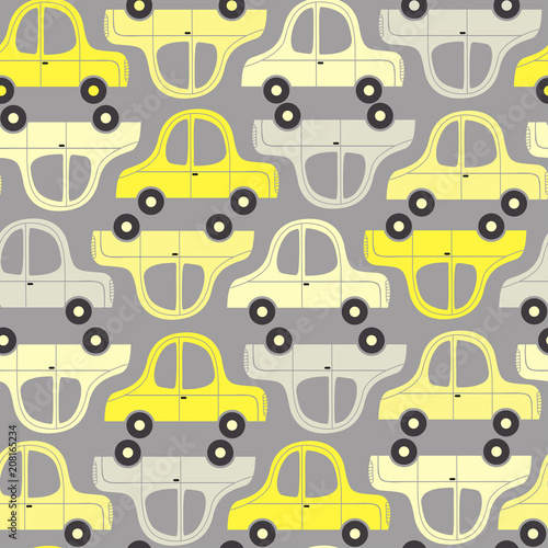 wzor-z-zoltych-i-szarych-samochodow