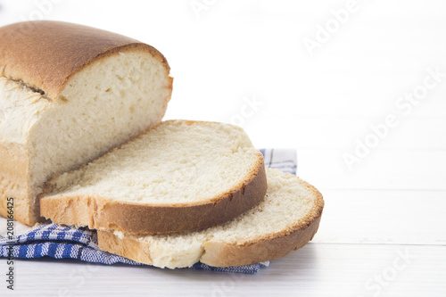 Deurstickers Brood Freshly Baked Loaf of Homemade White Bread
