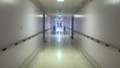 Empty hospital hallway steadicam