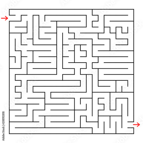 Abstract square maze  An interesting game for children and teenagers