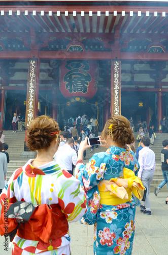 Foto op Plexiglas Japan Sensoji temple Asakusa, Tokyo.