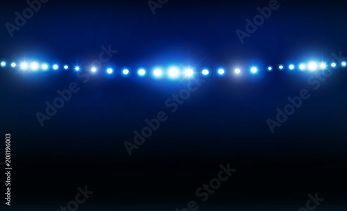 Bright stadium arena lights vector design vector illumination