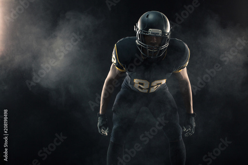 Fotografiet  African American football player.