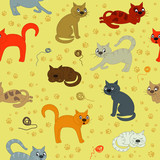 Fototapeta Child room - Cat life