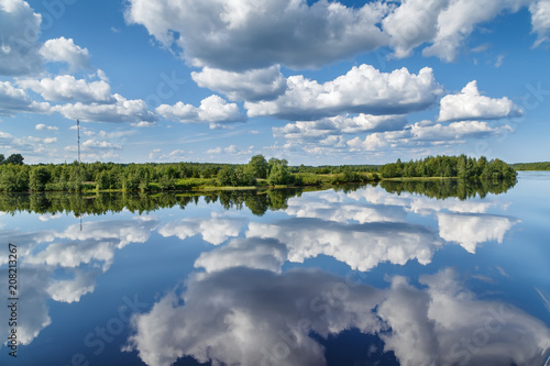 Riviere Landscape on the river Vyg, Russia