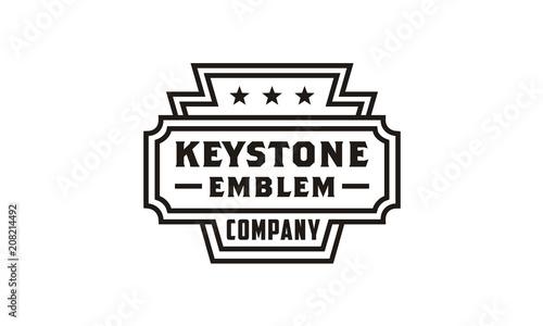 Line Art Keystone Badge/Emblem logo design inspiration Tablou Canvas