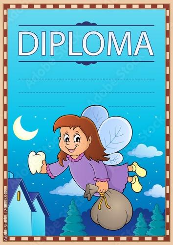Deurstickers Voor kinderen Diploma template image 5