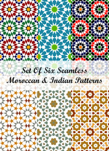 Set Of Six Moroccan & Indian G...