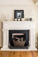 Fireplace In A Modern Luxury House
