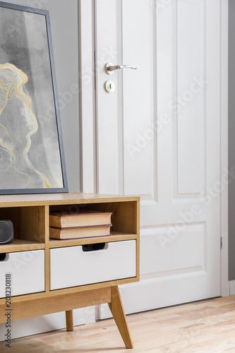 Valokuva  Wooden sideboard in scandinavian style