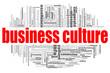 Leinwanddruck Bild - Business culture word cloud