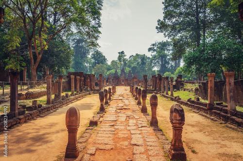 Keuken foto achterwand Historisch geb. Banteay Srey - unique temple of pink sandstone.