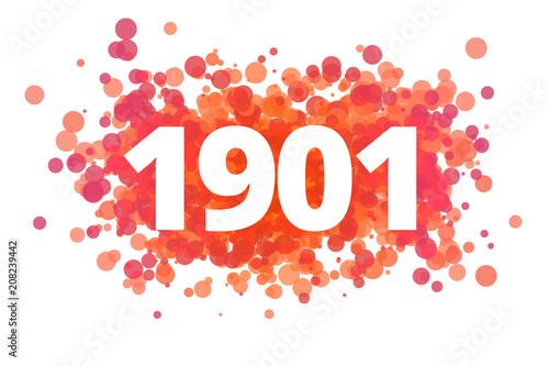 Poster  Jahr 1901 - dynamische rote Punkte