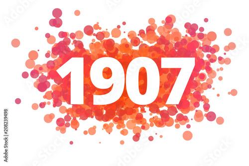 Poster  Jahr 1907 - dynamische rote Punkte