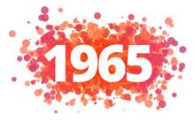 Jahr 1965 - Dynamische Rote Pu...