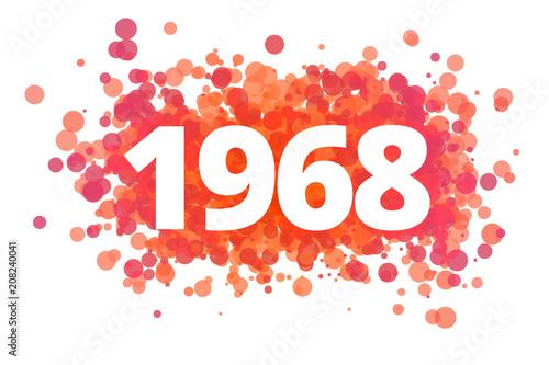 Papel de parede Jahr 1968 - dynamische rote Punkte