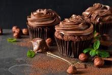 Chocolate Cupcakes With Peanut...