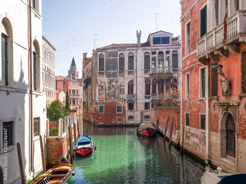 Foto op Plexiglas Venetie Venice, Italy. beautiful view of a quiet canal in a sunny day of summer.