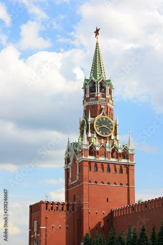 Foto op Aluminium Moskou Tower of the Moscow Kremlin