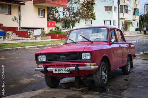 Photo HABANA, CUBA-JANUARY 13: Old car on January 13, 2018 in Habana, Cuba
