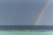 Double rainbow with pearl sea at Maldives