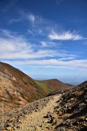 Foto op Aluminium Nachtblauw Mountain in Autumn