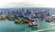 Aerial View Of Sydney Harbor And Downtown Skyline, Australia