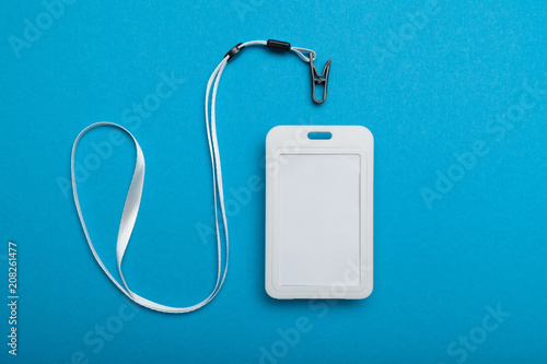 Blank badge with lanyard, security template. - Buy this stock photo ...