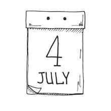 Sketch Of A Tear-off Calendar....