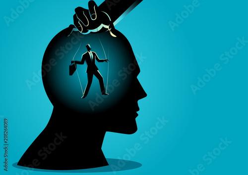 Fotografie, Obraz Puppet master controls mind