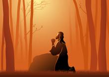 Jesus Praying In Gethsemane
