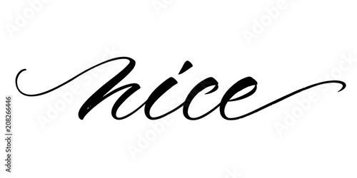 Valokuva  Nice lettering