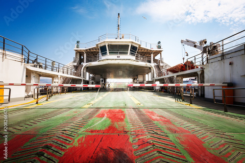 Fototapeta Empty ferry ship