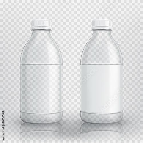 Leinwand Poster Empty realistic plastic bottle