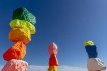 Seven Magic Mountains Sculpture Adds Splash Of Color To Desert Near Las Vegas