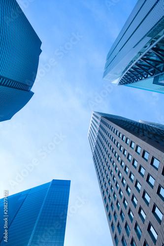 Tuinposter Aziatische Plekken Skyscrapers at Shiodome Area, Shimbashi, Tokyo, Kanto Region, Honshu, Japan