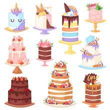 Birthday Cake Vector Cheesecak...