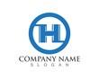 H Letter Logo Template symbols icons