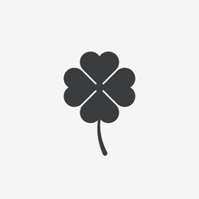 Four Leave Clover Vector Icon