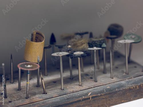 Set of tooth polishing tools