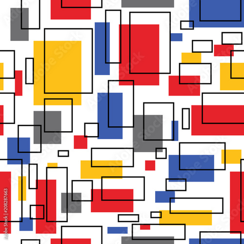 Obrazy styl bauhaus abstrakcja-w-inspiracji-stylem-bauhaus