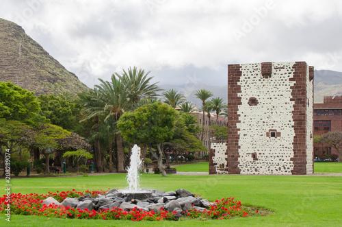 Deurstickers Canarische Eilanden The tower, Torre del Conde, in San Sebastian de la Gomera