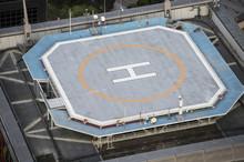 Huge Heliport On Building Roof