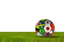 Soccer Football With Country F...