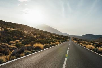 road to the Mount Teide volcano in Tenerife, Spain