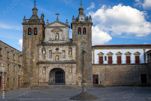 view on Viseu Cathedral, Portugal Canvas Print